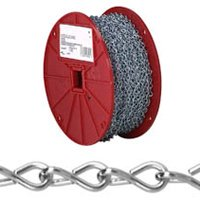 Campbell 072-4027 Single Jack Chain, NO 16, 250 ft L, 10 lb, Low Carbon Steel