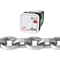 Campbell 018-4616 High Test Chain, 3/8 in x 40 ft, 5400 lb, Carbon Steel