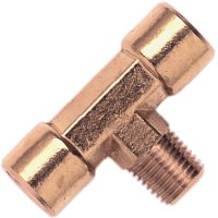 Campbell Hausfeld PA104000AV Tee Fitting, 1/4 in, MNPT X FNPT, Brass