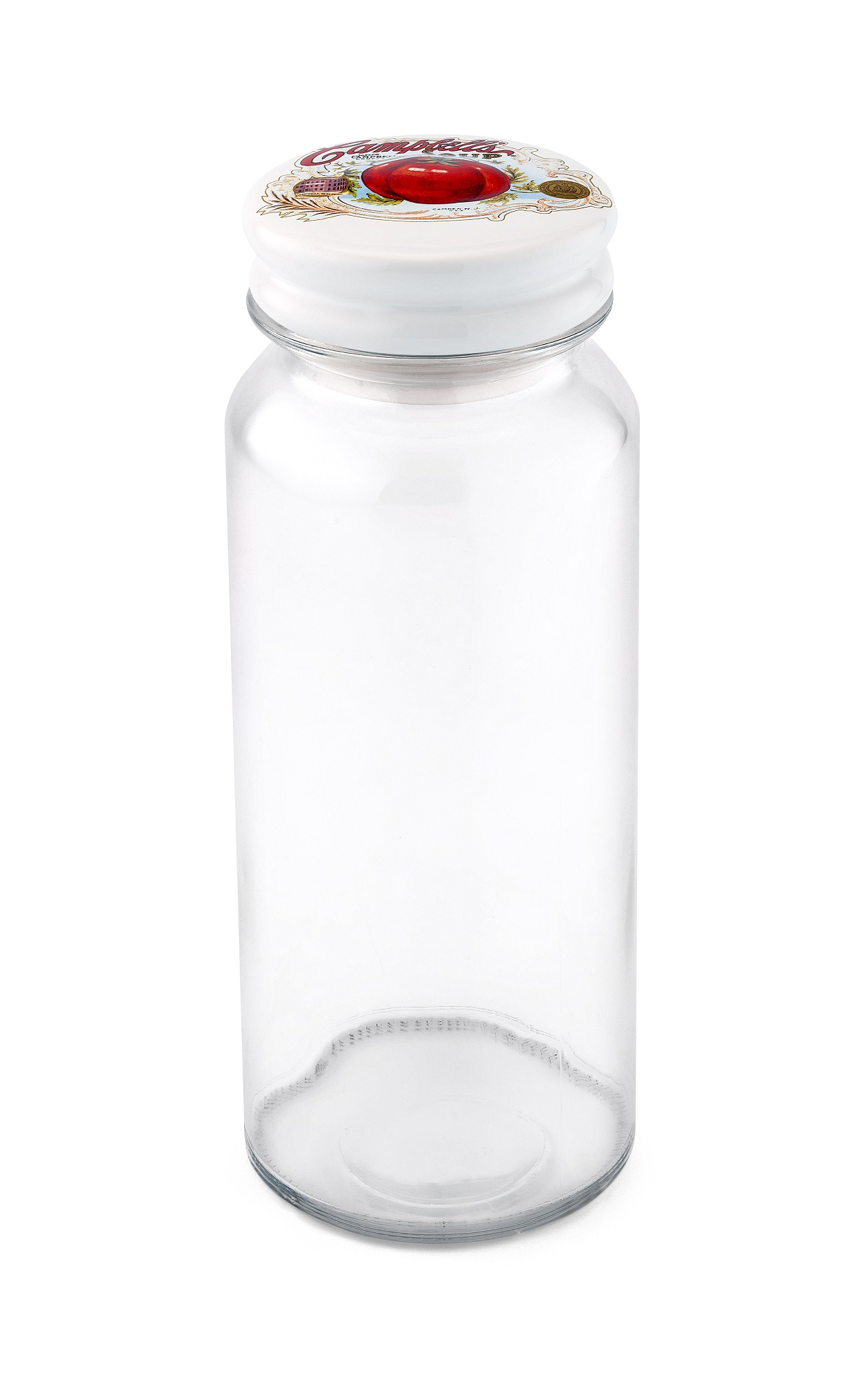 CAMPBELLS WMTL273B GLASS CONTAINER 62OZ WITH EMBOSSED