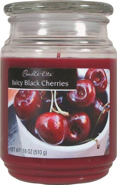 18OZ JAR CANDLE BLK CHERRIES
