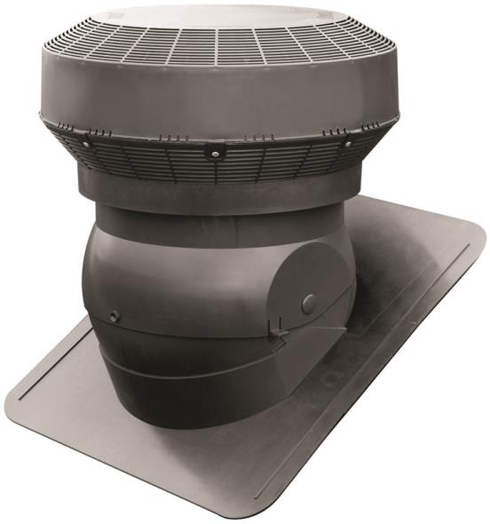 Duraflo 60PRO117BL Adjustable Base Roof Ventilator, Polypropylene, Black