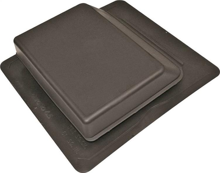 Duraflo 6065BL Low Profile Slant Type B Roof Ventilator, Polypropylene, Black