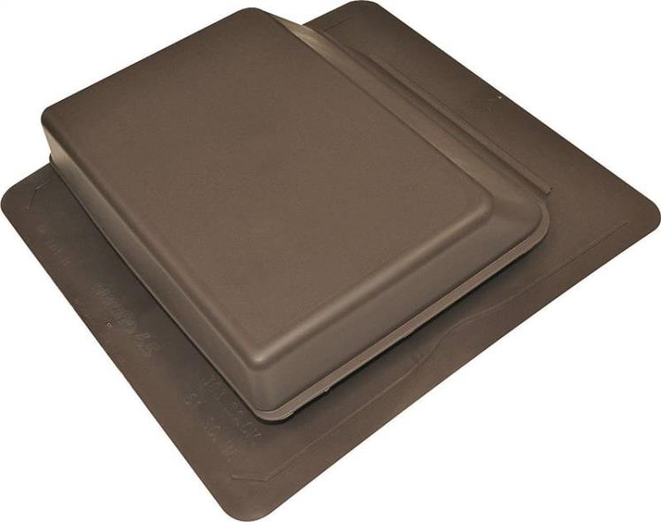 Duraflo 6065BR Low Profile Slant Type B Roof Ventilator, Polypropylene, Brown