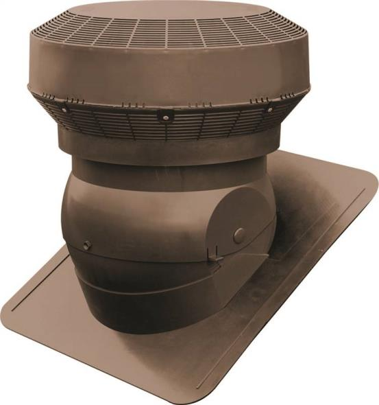 Duraflo 60PRO117BR Adjustable Base Roof Ventilator, Polypropylene, Brown