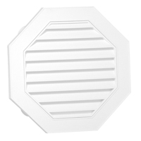 Canplas 626058-00 Octagon Gable Vent, 58 sq-in, Polypropylene