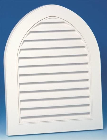 22-Inch Cathedral Decorative Gable Vent, White