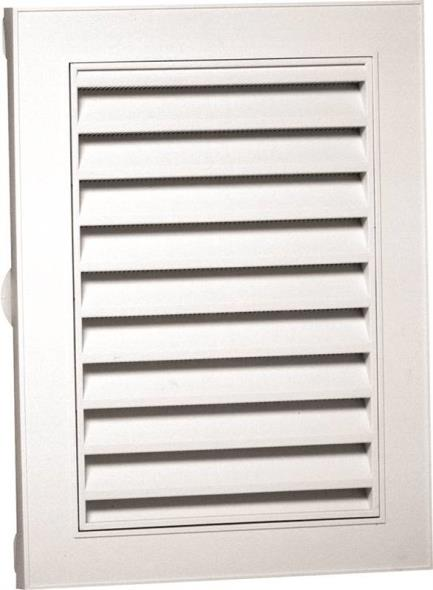 Duraflo 626075-00 Small Rectangular Gable Vent, 12 in W x 18 in H, 44 sq-in, Polypropylene