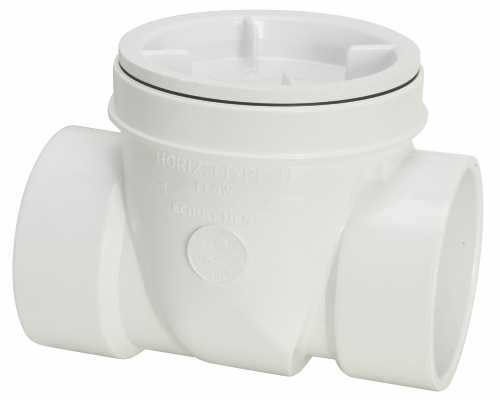 PVC DWV BACKWATER VALVE WITHOUT SLEEVE 3 IN.