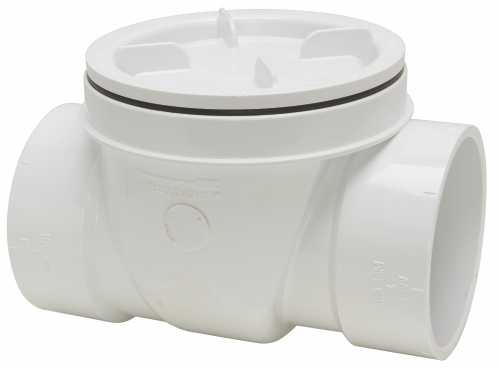 PVC DWV BACKWATER VALVE WITHOUT SLEEVE 4 IN.