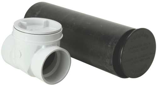 PVC DWV BACKWATER VALVE WITH SLEEVE 3 IN.