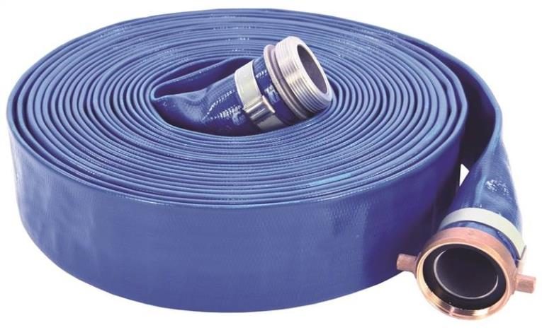 ABBOTT RUBBER 1147-4000-50-CE Pump Discharge Hose, 4 in x 50 ft, Cam Lock Quick-Connect Male x Female Coupling, PVC