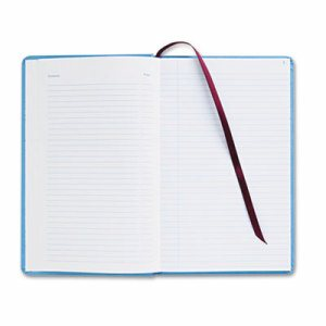 Record Ledger Book, Blue Cloth Cover, 150 7 1/4 x 11 3/4 Pages
