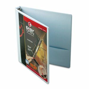 "Premier Easy Open ClearVue Locking Round Ring Binder, 1"" Cap, 11 x 8 1/2, White"