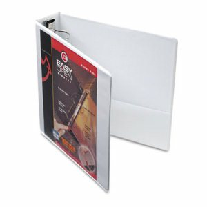 "Premier Easy Open ClearVue Locking Round Ring Binder, 2"" Cap, 11 x 8 1/2, White"