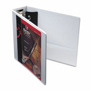 "Premier Easy Open ClearVue Locking Round Ring Binder, 3"" Cap, 11 x 8 1/2, White"