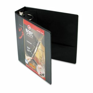 "Premier Easy Open ClearVue Locking Round Ring Binder, 3"" Cap, 11 x 8 1/2, Black"