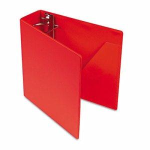 "SuperStrength Locking Slant-D Ring Binder, 3"" Cap, 11 x 8 1/2, Red"