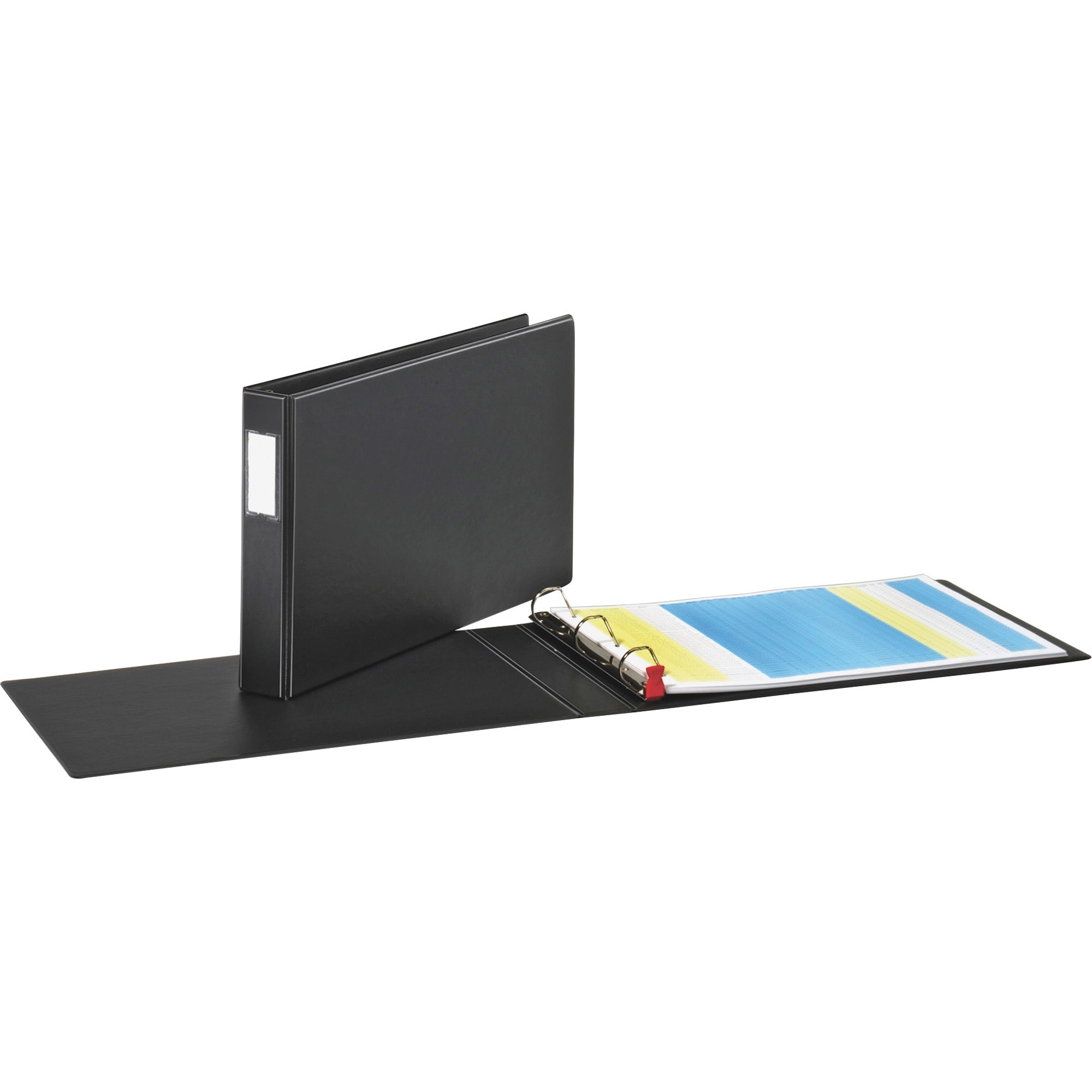 "Premier Easy Open 11 x 17 Locking Slant-D Ring Binder, 1 1/2"" Cap, Black"