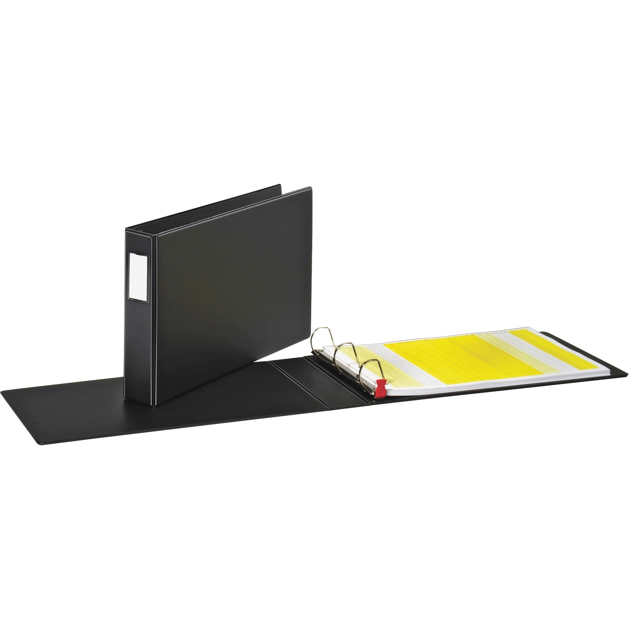 "Premier Easy Open 11 x 17 Locking Slant-D Ring Binder, 2"" Cap, Black"