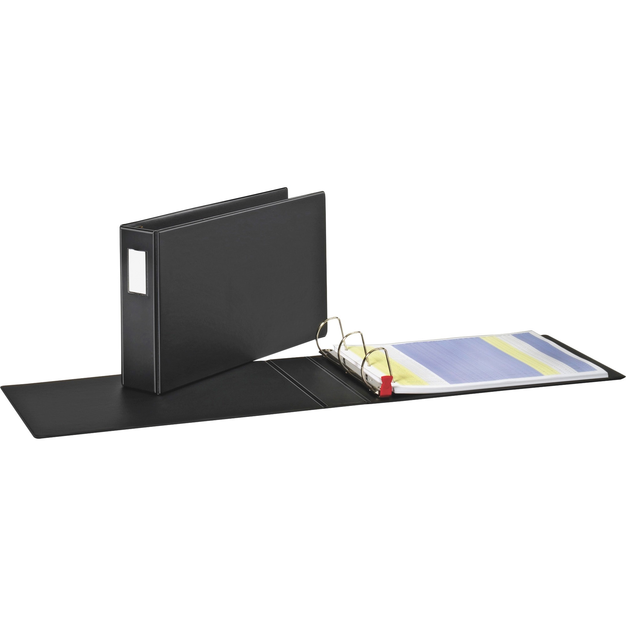 "Premier Easy Open 11 x 17 Locking Slant-D Ring Binder, 3"" Cap, Black"