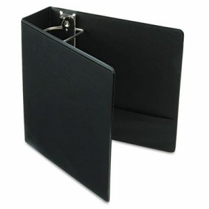 "Performer ClearVue Slant-D Ring Binder, 3"" Cap, 11 x 8 1/2, Black"