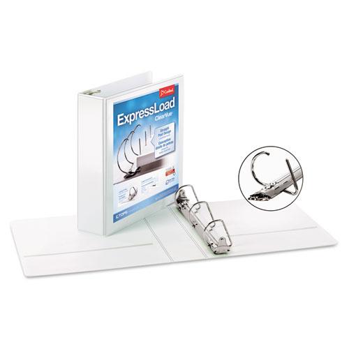 "ExpressLoad ClearVue Locking D-Ring Binder, 2"" Cap, 11 x 8 1/2, White"