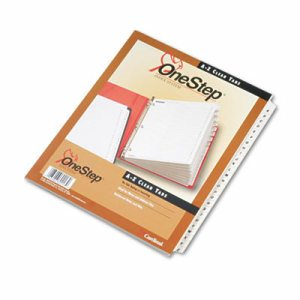 Traditional OneStep Index System, 26-Tab, A-Z, Letter, White, 26/Set