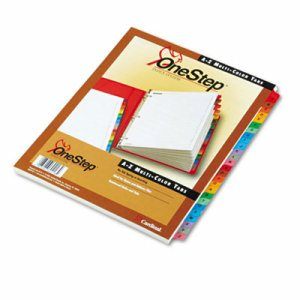 Traditional OneStep Index System, 26-Tab, A-Z, Letter, Multicolor, 26/Set