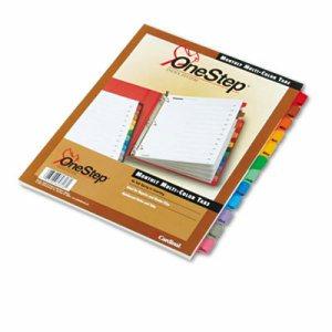 Traditional OneStep Index System, 12 Tab, Jan-Dec, Letter, Multicolor, 12/Set
