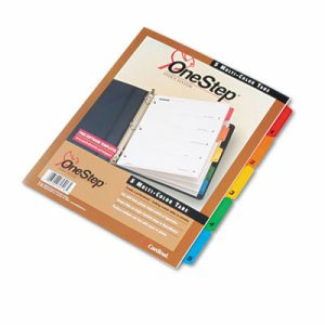 Traditional OneStep Index System, 5-Tab, 1-5, Letter, Multicolor, 5/Set