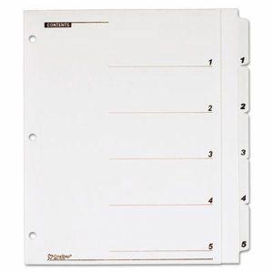 OneStep Plus Index System, 5-Tab, White