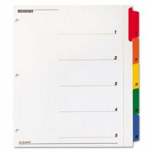 OneStep Plus Index System, 5-Tab, Multi-Color