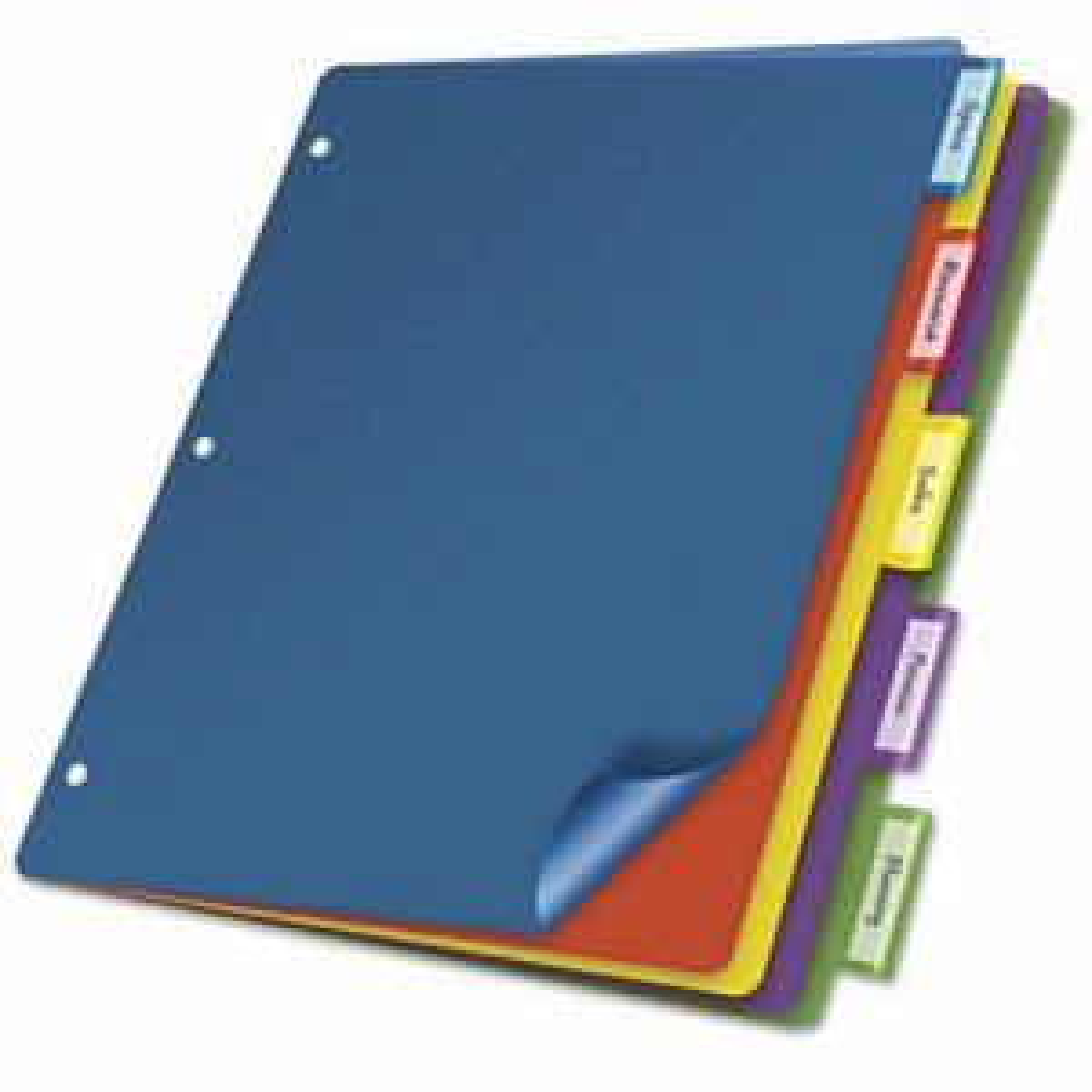 Poly Index Dividers, Letter, Multicolor, 5-Tabs/Set, 4 Sets/Pack