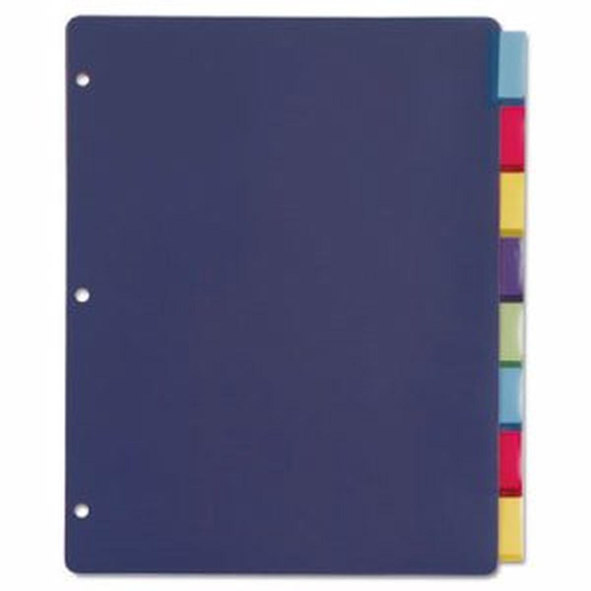 Poly Index Dividers, Letter, Multicolor, 8-Tabs/Set, 4 Sets/Pack