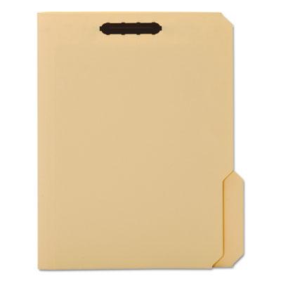 Top Tab Fastener Folder, 1/3 Cut Top Tab, Letter, 18 Point, Manila, 50/Box