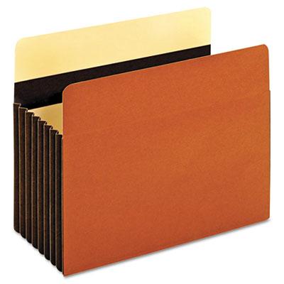 Heavy-Duty File Pockets, 1 Pocket, Letter, Redrope