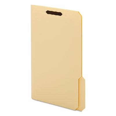 Top Tab Fastener Folder, 1/3 Cut Top Tab, Legal, 18 Point, Manila, 50/Box