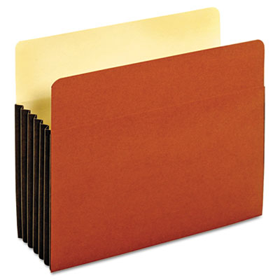 File Pocket with Tyvek, Top Tab, Straight Cut, 1 Pocket, Letter, Brown