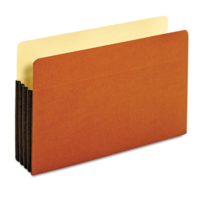 File Pocket with Tyvek, Straight Cut, 1 Pocket, Legal, Brown