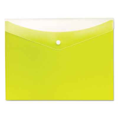 Poly Snap Envelope, 8 1/2 x 11, Limeade