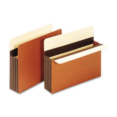 Heavy-Duty File Pockets, Straight Cut, 1 Pocket, Letter, Redrope