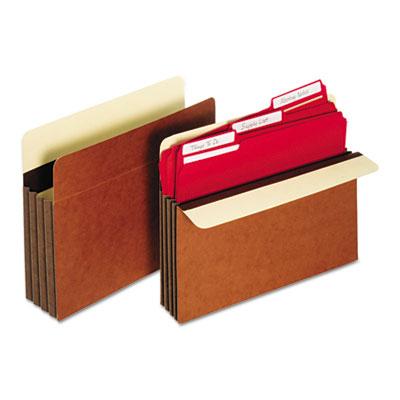 Heavy-Duty File Pockets, Straight, 1 Pocket, Letter, Redrope