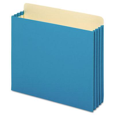 File Cabinet Pockets, Straight Cut, 1 Pocket, Letter, Blue
