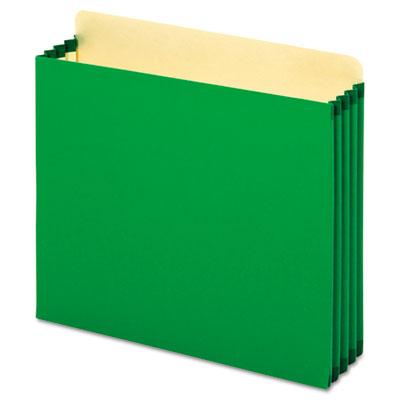 File Cabinet Pockets, Straight Cut, 1 Pocket, Letter, Green