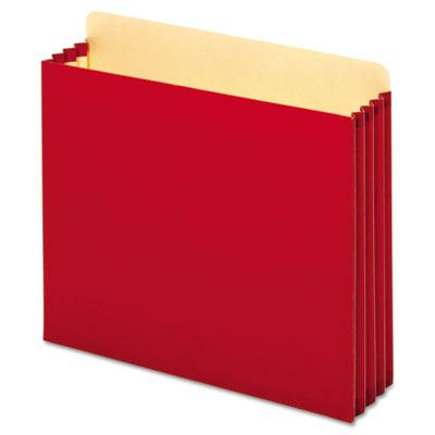 File Cabinet Pockets, Straight, 1 Pocket, Letter, Red