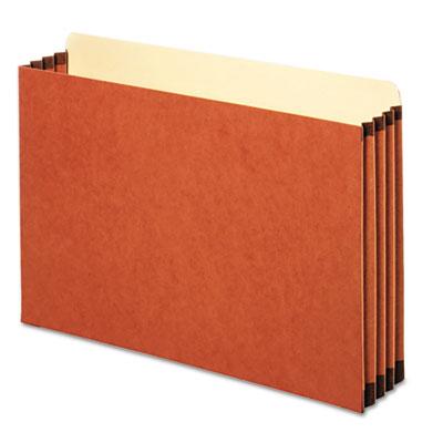 File Cabinet Pockets, Straight Cut, 1 Pocket, Legal, Redrope