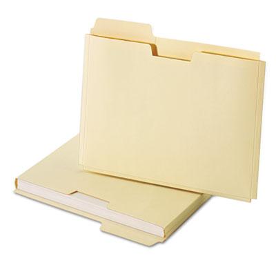 Expanding File Folder Pocket, Letter, 11 Point Manila, 10/Pack
