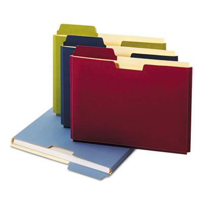 Expanding File Folder Pocket, Letter, 11 Point Stock, Assorted, 10/Pack