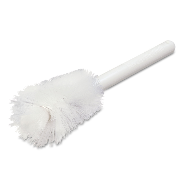 "Sparta Handle Bottle Brush, Pint, 12"", White"